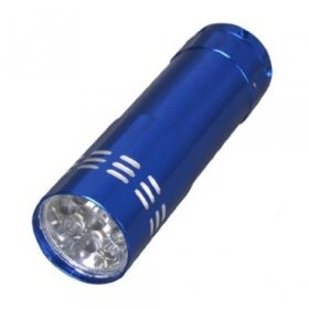 9 LED Hand Torch - Blue