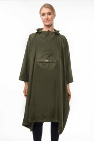 Adult Waterproof Poncho - Khaki