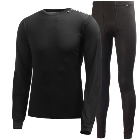 Helly Hansen Men's Comfort Light Base Layer Set - Black