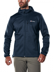 Berghaus Men's Fortress Hooded Jacket Navy Front