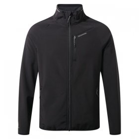 Mens Sporty Softshell Jacket Black Front