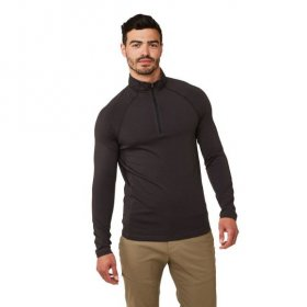 Men's First Layer Half Zip Tee - Black Pepper