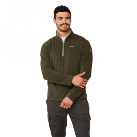 Men's Corey Half Zip Fleece - Woodland Green