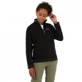Women's Miska V Half Zip Fleece - Black