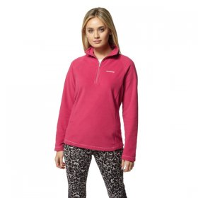 Women's Miska Half Zip Fleece - Pink