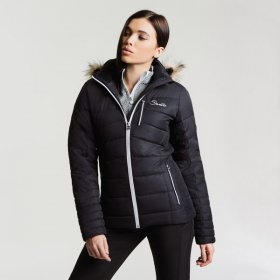 Dare2b Womens Curator Black Ski Jacket - Front