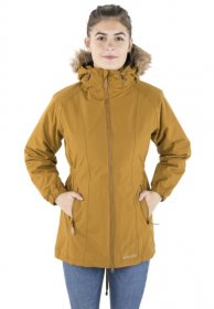 Womens Celebrity Long Parka Jacket - Golden Brown