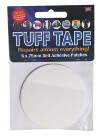 TUFF Tape Self Adhesive Repair Patches 5-Pack 75mm