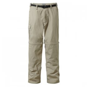 Craghoppers Mens Kiwi Convertible Trousers - Beige